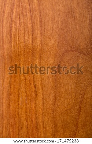 texture of natural wood, laminate cherry wood varnished - stock photo