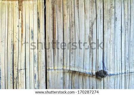 Texture of old bamboo fence, can be used for background
