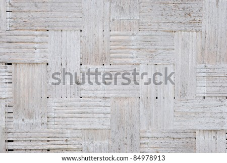 Texture of old bamboo weave,used for background - stock photo