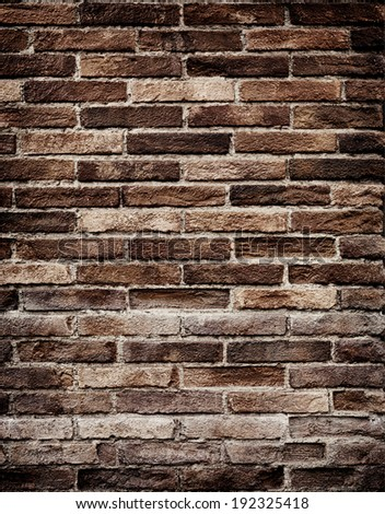Texture of old brick wall grungy background - stock photo