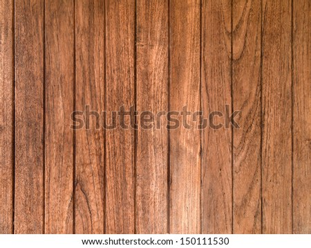 Texture of Old Brown wood plank wall for background - stock photo