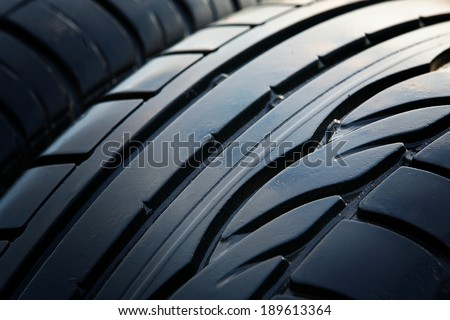 texture of old car tires - stock photo