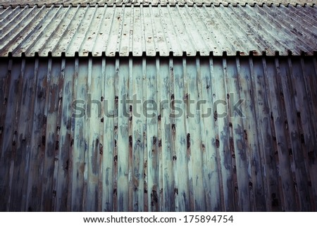 texture of old corrugated iron - stock photo