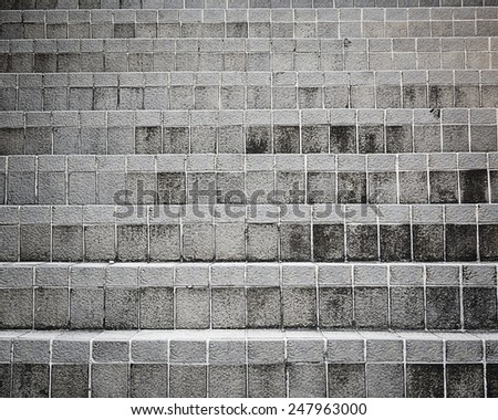Texture of old grunge concrete staircase background