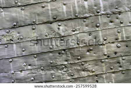 Texture of old grunge metal steel - stock photo