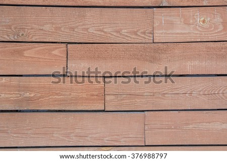 texture of old orange planks, close up