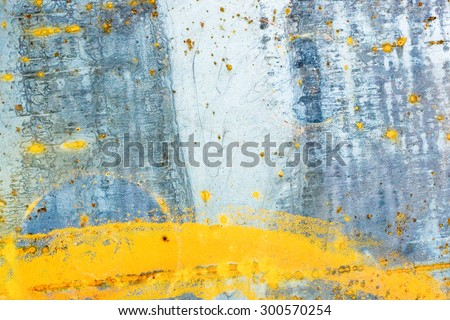texture of old rusty metal rust stains on metal - stock photo