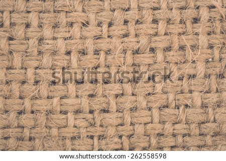 Texture of old sack or crumpled burlap, Background