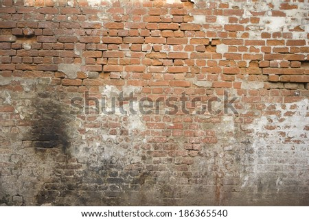 Texture of old stone brickwork - Rough brick wall - stock photo