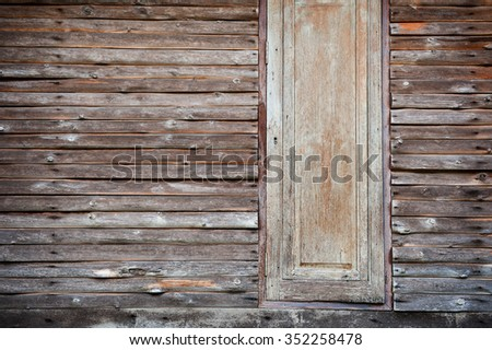 Texture of old Timber Wood Wall and window for background