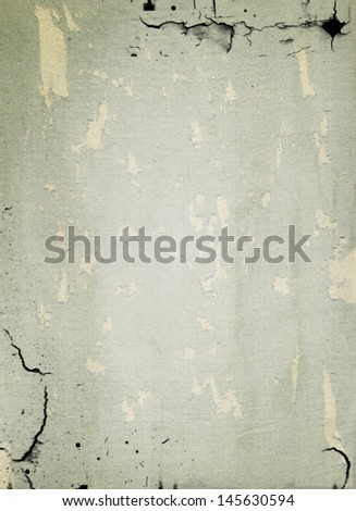 Texture of old wall with crack background - stock photo