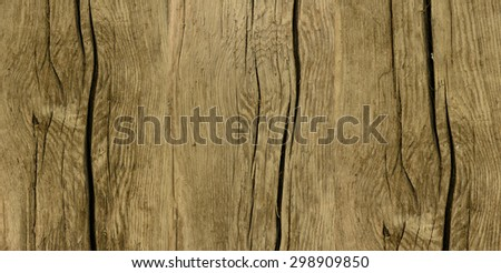 Texture of old wood background with scratches closeup - stock photo