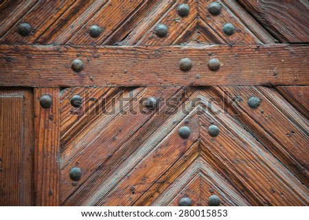Texture of old wood door