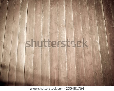 texture of old wooden boards floor - stock photo