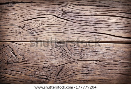 Texture of old wooden planks. - stock photo
