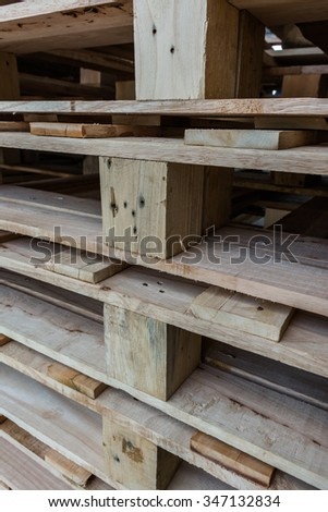 Texture of pallet wood - stock photo