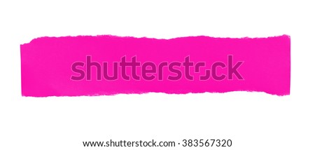 Texture of pink paper with torn edges. - stock photo