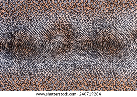 texture of print fabric striped snake leather for background - stock photo