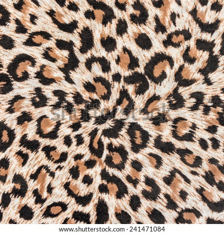 texture of print fabric stripes leopard for background - stock photo