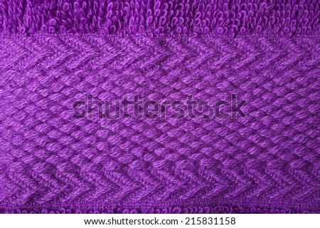 Texture of purple terry towels pattern closeup - stock photo