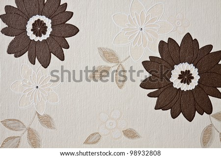 Texture of PVC interior wallpaper in pastel colors - stock photo