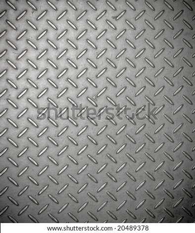 Texture of real metal diamond grip plate - stock photo