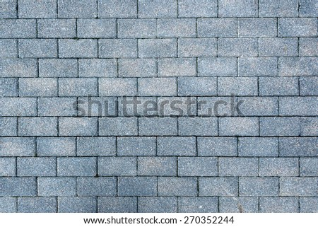 Texture of road surface made grey pave stones - stock photo