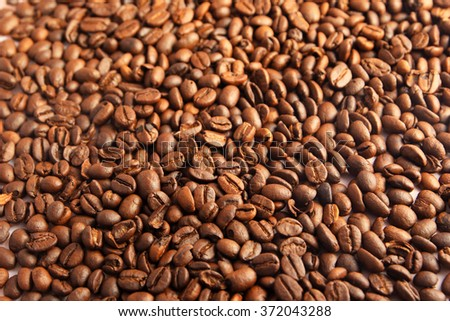 Texture of roasted ready to drink coffee close-up. - stock photo