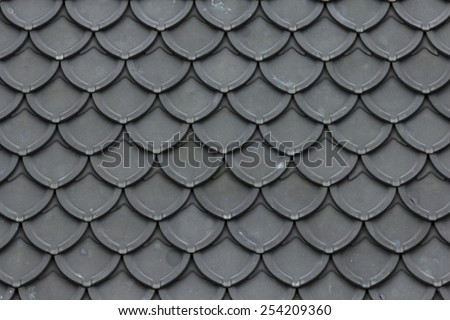 Texture of roof in pattern design closeup - stock photo
