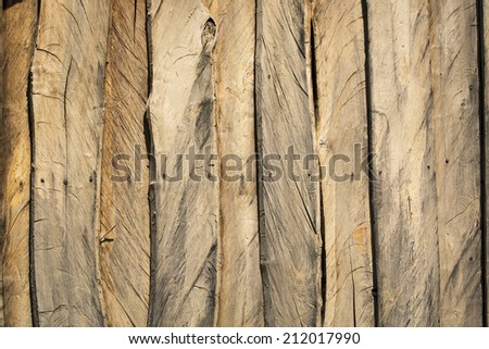 Texture of rustic wood. Interior house.