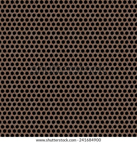 Texture of rusty metal grid - stock photo
