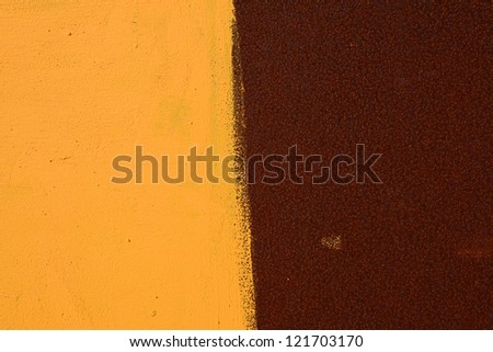 Texture of rusty metal surface with paint - stock photo