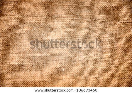 Texture of sack. Burlap background - stock photo
