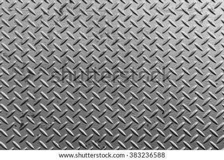 Texture of silver metal plate - stock photo