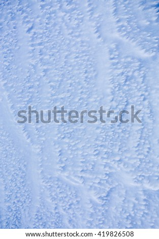 Texture of snow drifts and frost - stock photo