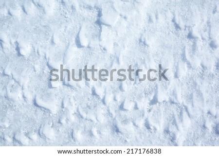 Texture of snow of Baikal lake in Siberia - stock photo