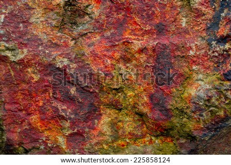 Texture of stone in autumn colors - stock photo