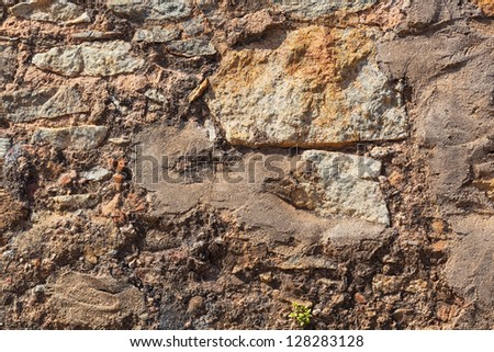 Texture of stone wall - stock photo