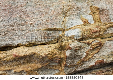 texture of stone wall, close up shot - stock photo