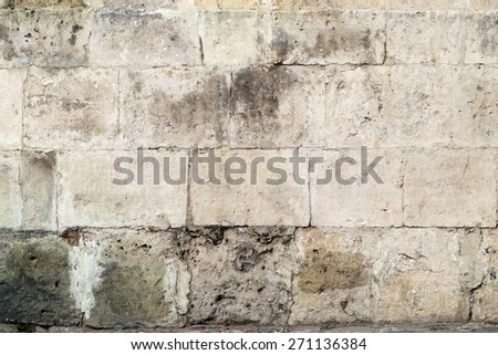 Texture of stone wall photographed close up - stock photo