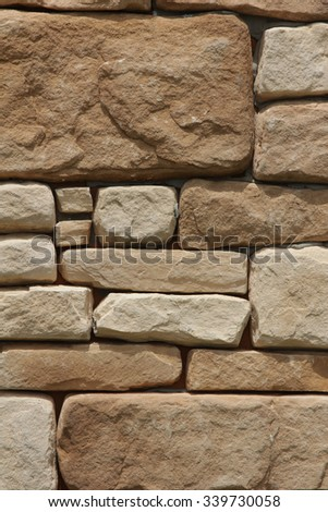 Texture of stone wall with for background - stock photo