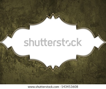 Texture of stone with gold trim on white background. Design template. Design element - stock photo