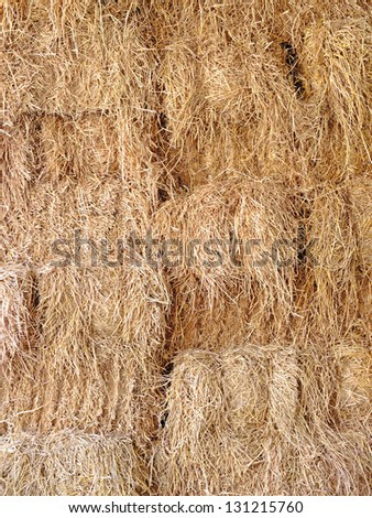 Texture of straw. - stock photo