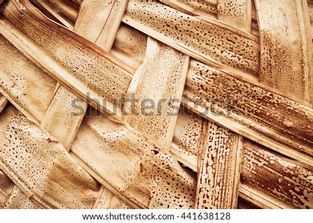 Texture of straw hat made of cactus