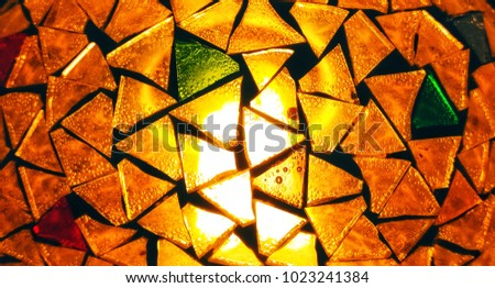 Texture Of Surface Glass Lamp