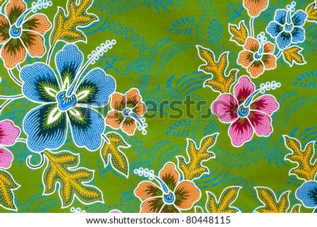 texture of thai fabric - stock photo