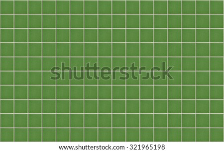 texture of the green Square tiles wall for background - stock photo