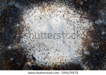 Texture of the old bottom of pot. - stock photo