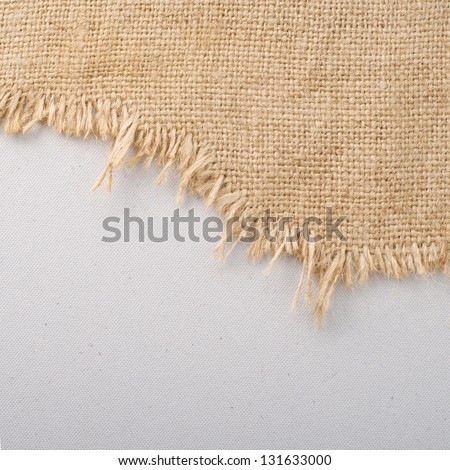Texture of the old burlap and cardboard - stock photo