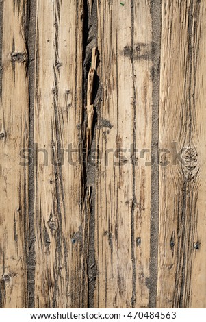 texture of the old cracked planks